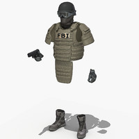 SWAT FBI HRT gear
