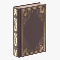 classic book 03 standing 3d obj