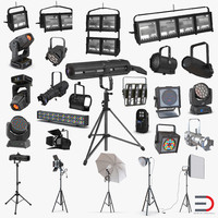 3d model studio stage lighting