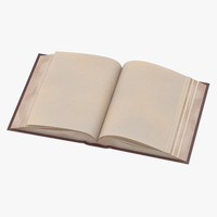 classic book 03 open 3d obj