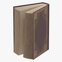 classic book 03 standing 3d model