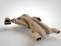 3d sci-fi starship model