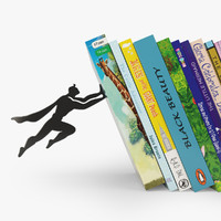books stylish bookend 3d 3ds