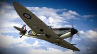 3d supermarine spitfire squadron model