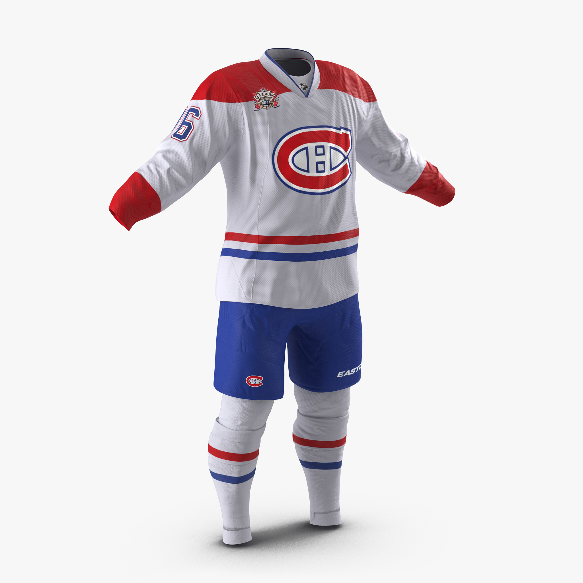 Hockey Clothes Montreal Canadiens vray 3d model 00.jpg