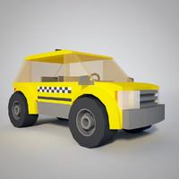 ready taxi 3d model