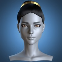 female head greek hairstyle obj
