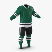 3d model hockey clothes generic