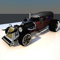 3d fbx hot rod vehicle sedan