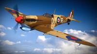 3d model supermarine spitfire squadron