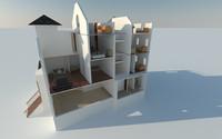 fully residential 3d model