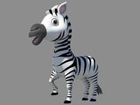3d cute zebra