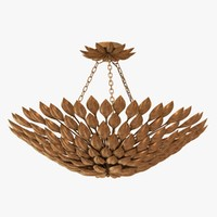 chandelier light crystorama broche 3d model
