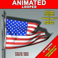 animation flag 3d max