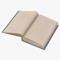 3d model classic book 04 open