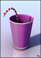 free cup drink cartoon 3d model