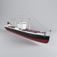 3d model of cargo ship