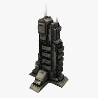 Sci-Fi City Building Tall 1