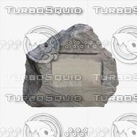 3d model gravestone template