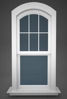 window doublehung segment 3d c4d