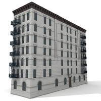 3d american tenement house