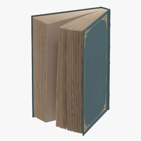 3d model classic book 04 standing