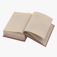 classic book 05 open 3d c4d