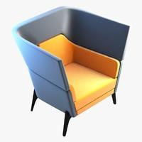 harc lounge chair 3d model