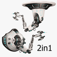 robotic arm 02 set 3d model