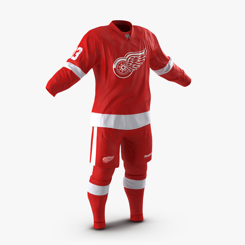 Hockey Clothes Detroit Red Wings vray 3d model 00.jpg