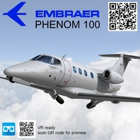 Embraer Phenom 100 Low poly
