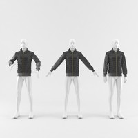 3d max jacket male
