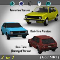 3 1 golf mk1 3d c4d