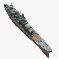 japanese cruiser oyodo 3d model