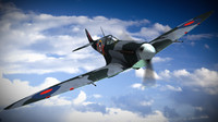 supermarine seafire mkiic squadron 3d model