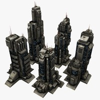 5 Sci-Fi City Buildings Tall
