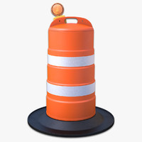 traffic drum light new 3d model