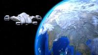 sci-fi starship 3d model