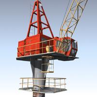 3d model crane port