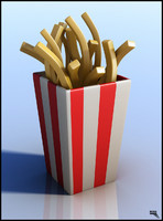free fries french 3d model