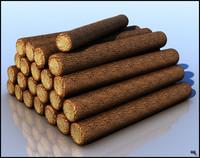 3d log pile