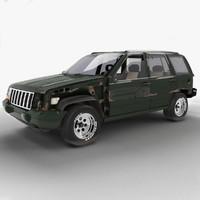 1993 jeep grand cherokee 3d max