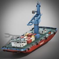crane ship 3d model