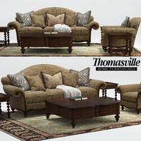 3d max ernest hemingway pauline sofa chair