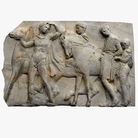 frieze marble parthenon 3d 3ds