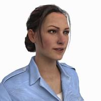 3d model of female cop