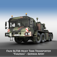 faun stl-56 heavy tank 3d model