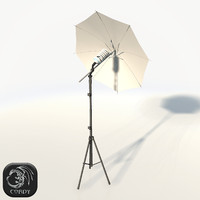 3d realistic photo studio umbrella