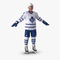 3d hockey player toronto maple model