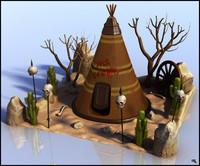 3d camping indian